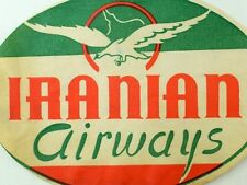 1940's-50's Iranian Airways Iran Luggage Label Vintage Original E12