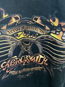 AEROSMITH Aero Force One T-Shirt Size XL