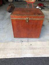 Handmade Vintage Wood Tack Trunk Storage Horse Equestrian