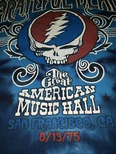 Grateful Dead T Shirt Great American Music Hall 1975 SF 8/13/75 Tie Dye XXL 2XL