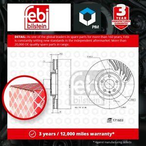 Brake Disc Single Front Right 350mm 171603 Febi 95B615302F 95B615302R Quality