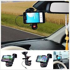 Hands-free FM Transmitter LED Car/Home/Office Kit MP3 Player phone Mount Holde