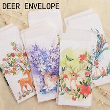 5pcs/lot Cute Deer Cartoon Paper Envelope Christmas Postcards Cover