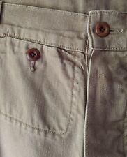 Margaret Howell MHL Workwear Pantalones de sarga de algodón en la Arena Oscuro XS W30 L30 en muy buena condición