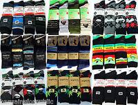 12 Pairs Mens Designer Cotton Rich Stripy Diamond Argyle Socks Adults Size 6-11