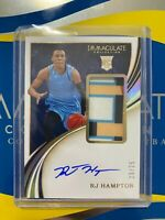 2020-21 PANINI IMMACULATE RJ HAMPTON RPA ROOKIE PATCH AUTO GOLD RC 20/25
