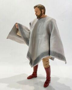 """PB-PON-QG: 1/12 fabric poncho for 6"""" Star Wars Qui Gon Jinn (no figure)"""