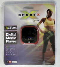 GPX MP3/4, 8GB, w/ Pedometer, Rechargeable, RED, Brand New, USA Seller Free Ship