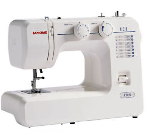 NEW SEWING MACHINE JANOME 219-S IDEAL BEGINNER EASY TO USE FREE DELIVERY BARGAIN
