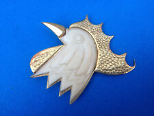 Vintage Broche Tête de Coq Patriotique Celluloid / French Brooch