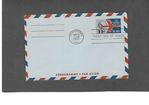 #UC35 11c AIRMAIL AEROGRAMME FDC -JOHNSTOWN,PA JUN 16-1961