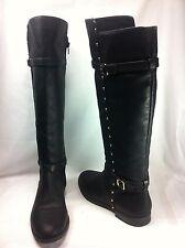 INC International Concepts Ameliee Women Shoes Black Boot Knee Hight Sz 9 M