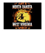 Just A North Dakota Witch In West Virginia World Sticker - Landscape