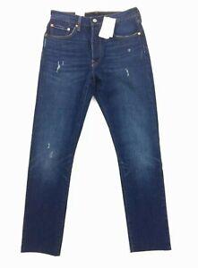 NEW Levi's 501S Skinny Dark Blue Frayed Stretch Denim Jeans Womens Size 27 28 30