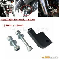 Black Headlamp Headlight Extension Block For Harley Dyna FXDB Sportster T-Sport