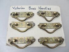 Victorian Brass Drawer Handles Pulls Architectural Antique Old Hardware Chest