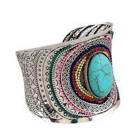 Boho Jewelry Beads Vintage Cuff Ethnic Turquoise Bracelets Women Bangle