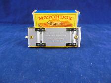 Raro Matchbox 20 C Chevrolet Impala Taxi Cab en Amarillo Gris/Plateado Pintado Base