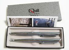 Collectible Quill Advertising LTV Steel Pen & Mechanical Pencil Set