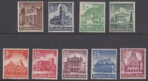 Germany 1940  #B177-85 Buildings Set of 9 - MNH