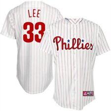 White Youth Medium Stitched Cliff Lee MLB Baseball Jersey