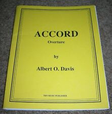 Concert band sheet music Accord Overture by Albert O. Davis Grade 3