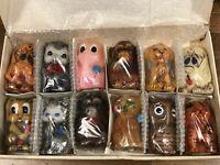 VINTAGE ANIMAL DELIGHTS Sales Kit RARE  *L👀K**(12 Pcs)Hand Painted Wax Candles