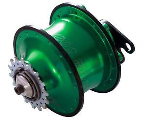 Rohloff Speedhub 500/14 grün 32 Loch für Felgenbremse div. Achsplatten