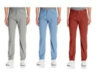 Dockers Men's Jean Cut Straight Fit Pants - Copen Blue and Brick Red - 70% Off