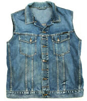 Womens Nudie Jeans Vest Gilet 'TERRY - NATURAL WORN' Jacket Size XL