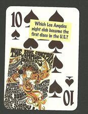 Whiskey a Go Go Los Angeles Night Club First Disco Neat Playing Card #3Y6
