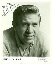 Buck Owens original autographed autograph signed photo