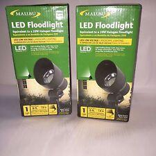 2 Malibu Led Low Voltage Black 20-Watt Equivalent Flood Light 8401-2604-01  Two
