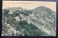 1913 Mussooree India RPPC Postcard Cover To England Lakkar Bazar & Top Tibba