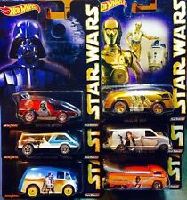 HOT WHEELS POP CULTURE 2015 STAR WARS SET OF 6 - CASE E ASSORTMENT CFP34-956E
