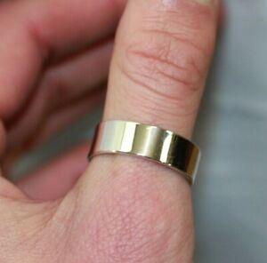 Men's 925 STERLING SILVER Plain Wedding Band/Ring: Size 14, 7.5 Grams