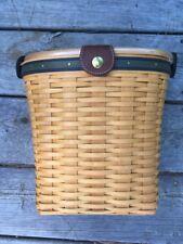 Longaberger Large Saddlebrook Basket Purse with Woodcrafts Lid 2000 Nib Extras