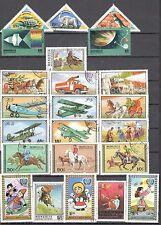 R9940 - MONGOLIA 1978 - LOTTO 24 TEMATICI DIFFERENTI DEL PERIODO - VEDI FOTO