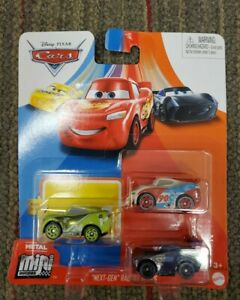 DISNEY PIXAR CARS MINI RACERS 3PACK NEXT GEN CHASE RACELOTT PAUL CONREV JACKSON