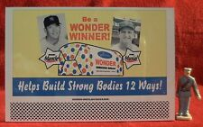 WONDER BREAD (MANTLE/MUSIAL)  #63___O/S SCALE TINPLATE BILLBOARD