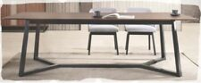 Rhonda 2400x1000 Walnut Timber Dining Table with Black Legs - BRAND NEW