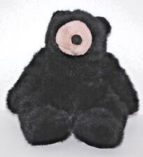 "Black Teddy Bear Plush 18"" Tall Don James Petagree Collectable"