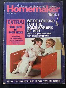 Vintage Retro Homemaker Magazine March 1971
