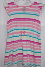 Two Girls size 4 & 5 Gymboree dresses, cotton, cap sleeves, stripes, colorful