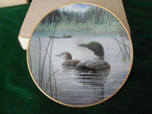 """New Light, New Life LOONS Collector Plate 8.5"""" Birds Of Distinction 1985"""