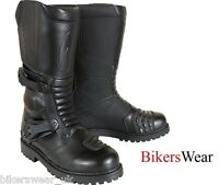 Richa ADVENTURE Black Motorcycle Boots WITH DOUBLE ADJUSTMENT