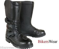 Richa ADVENTURE Black Motorcycle Boots WITH DOUBLE ADJUSTMENT ZE