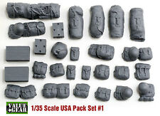 1/35 USA WWII Pack Set #1 - Value Gear Resin Stowage- 25 Pieces