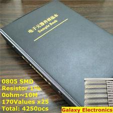 0805 1/% SMD SMT Chip Resistor  Assortment Kit 21Values x20pcs 240KR-5.1MR