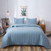 Kasentex Hotel Luxury Stone-Washed Quilt Set.100% Ultra Soft Microfiber. Winter
